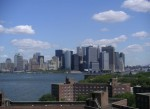 View of Manhattan and sky from top of Building 877