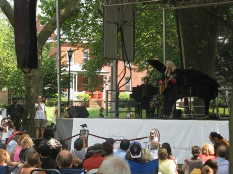 Judy Collins on Governors Island, Sunday July 26, 2009