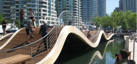 Simcoe Wavedeck, designed by West 8, Toronto waterfront