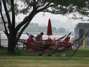 In 2009, visitors enjoyed hammocks, green space, and outstanding views at Picnic Point