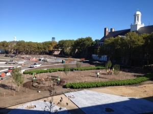 See the hedge maze under construction, newly planted trees and paths as a part of Park Preview weekend!