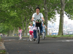 Biking on Governors Island. Image courtesy of the Trust.