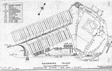 Governors Island Railroad. Image courtesy of the National Archives, Art Audley & trainweb.org