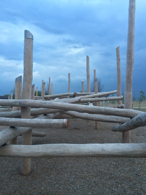 New play structures on Governors Island. Image by Michele Castellano, courtesy of the Trust.