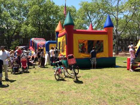 The Governors Island Alliance's Family Festival was action packed with crafts and bouncy castles. Image courtesy of the Trust.