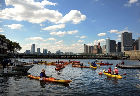 There will be lots of opportunities to Kayak close to Pier 101 on Governors Island. Image courtesy of MWA