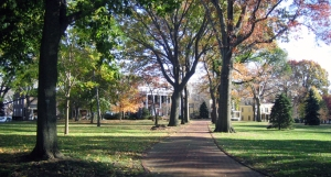 Take a walk through Nolan Park and be surrounded by  the charms of 19th century New York.