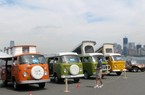 The VW Traffic Jam is an annual VW car show hosted on Governors Island and is free to attend.