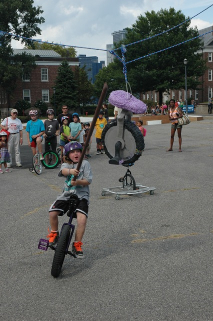 The Unicycle Festival was back on Governors Island this summer. Image courtesy of the Unicycle Festival.