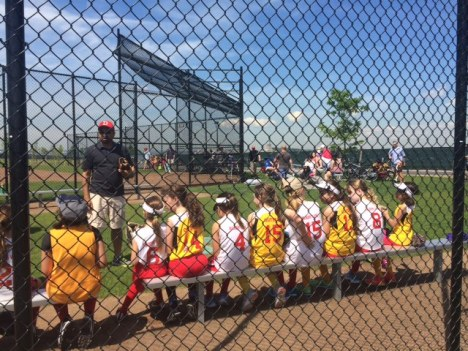 The little league team gets ready for the game. Image courtesy of the Trust.